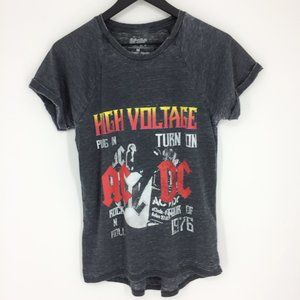 AC/DC 1976 High Voltage Tour Gray Burnout T-Shirt